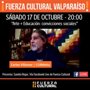 Fuerza Cultural Valparaíso Presenta – Carlos Villamar