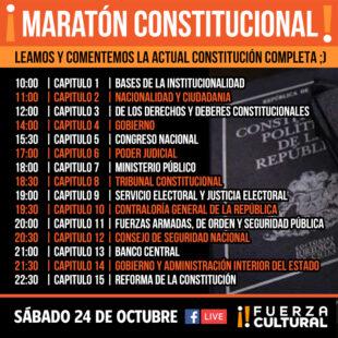 Fuerza Cultural invita a Maratón Constitucional