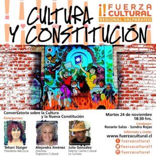 Fuerza Cultural Valparaíso Presenta: Cultura y Constitución
