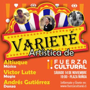 Círculo de Producción presenta: Varieté Artística en Plaza Ñuñoa