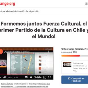 Fuerza Cultural en Petición de Change.org