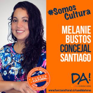 MELANIE BUSTOS ALVEAL – Concejala x Santiago Centro – XY 346