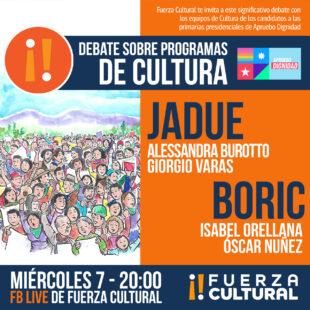 Exitoso debate sobre Cultura en los programas de gobierno de Boric y Jadue